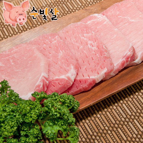 [순빛살] 구룡농장 무항생제 돼지 등심돈가스2kg(fresh)이식사