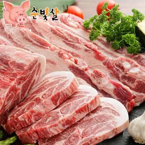 [순빛살] 구룡농장 무항생제 돼지 삼겹살500g+목살500g(fresh)