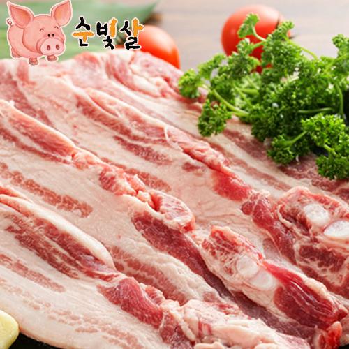 [순빛살] 구룡농장 무항생제 돼지 삼겹살2kg(보쌈)-(fresh)이식사
