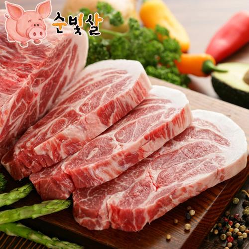 [순빛살] 구룡농장 무항생제 돼지 목살2kg(보쌈)-(fresh)이식사