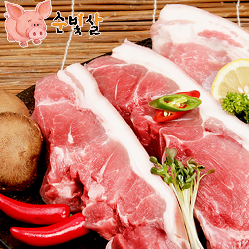 [순빛살] 구룡농장 무항생제 돼지 앞다리살2kg(구이)-(fresh)이식사