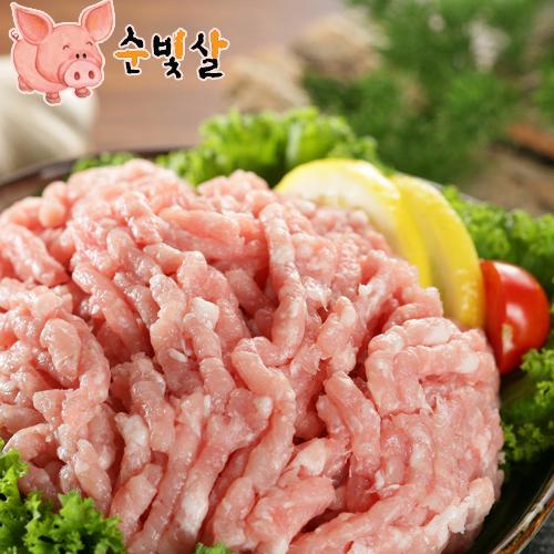 [순빛살] 구룡농장 무항생제 돼지 갈은고기2kg(fresh)이식사