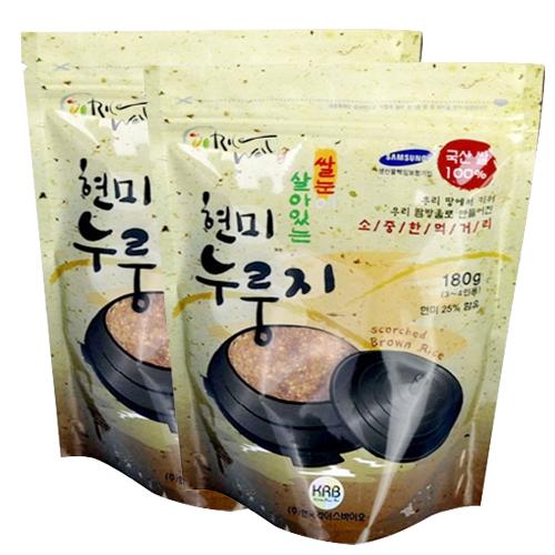 [라이스웰] 100%국내산 쌀로만든 현미누룽지 180g×10봉 이미지