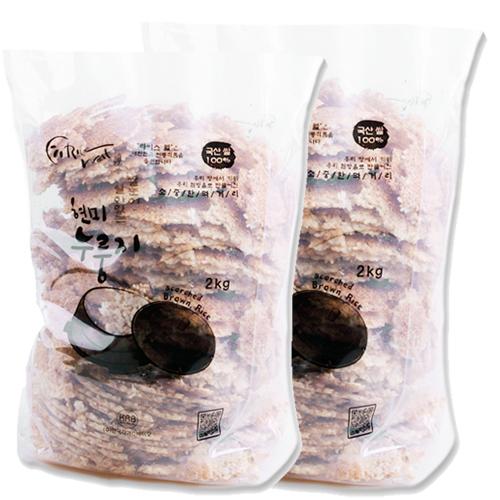 [라이스웰] 100%국내산 쌀로만든 현미누룽지 1kg×2봉/3봉 이미지