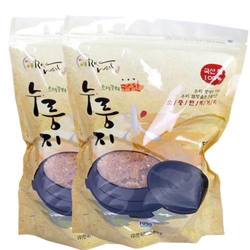[라이스웰] 100%국내산 쌀로만든 구수한누룽지 500g×4봉/6봉 이미지