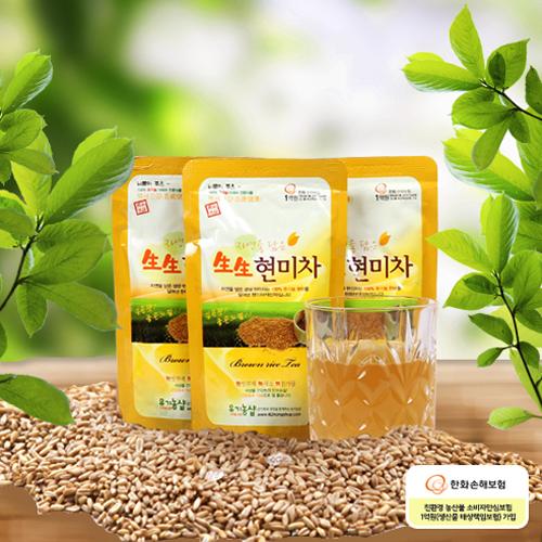 [백세건강] 자연을 담은 유기농 生生 현미차 150ml*90포이식사