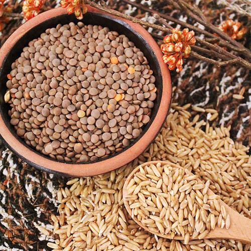 [슈퍼푸드] 타임지선정 세계 10대건강식품 렌틸콩 2kg+귀리쌀 2kg이식사
