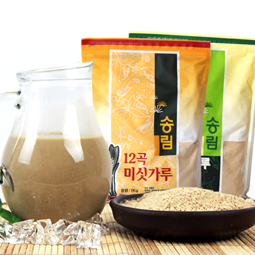 [엄선된 재료만을 사용한] 12곡 미숫가루 1kg+13가지 검은미숫가루 1kg이식사