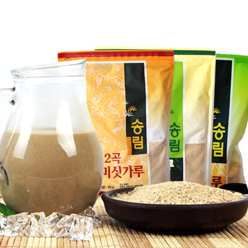 [엄선된 재료만을 사용한] 12곡 미숫가루 1kg+17가지 미숫가루 1kg+13가지 검은미숫가루 1kg이식사