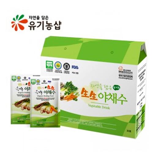 [백세건강] 자연을 담은 유기농 生生 야채수 150ml*90포이식사