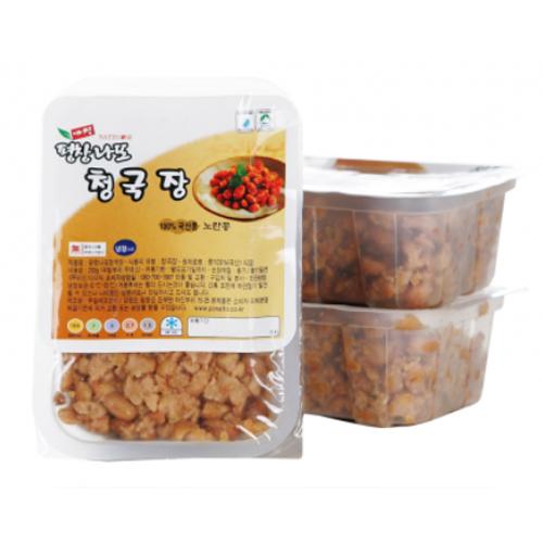 [평창나또] 해발700m 청정지역에서 국산콩으로 만든 나또 청국장 200g*10팩이식사