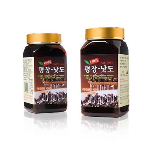 [평창나또] 해발700m 청정지역에서 국산콩으로 만든 쥐눈이콩 나또환  300g*2병이식사