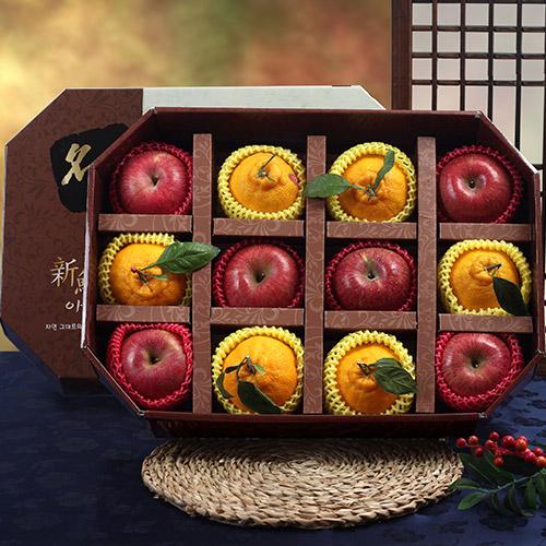 롯데백화점 명품 팔각 사과,한라봉 실속 혼합세트