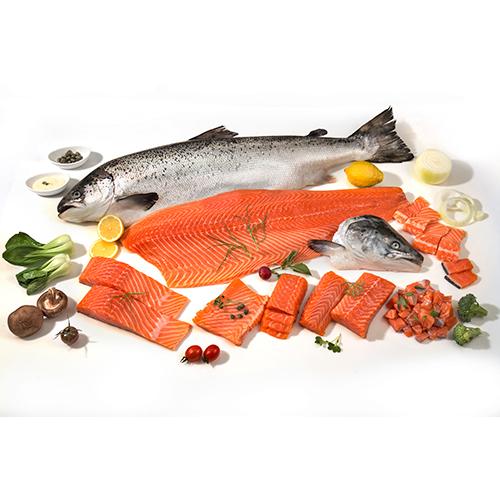 항공직송 노르웨이 FRESH 연어세트 7호 / 슬라이스300g,회덮밥,샐러드용200g,생와사비간장소스이식사