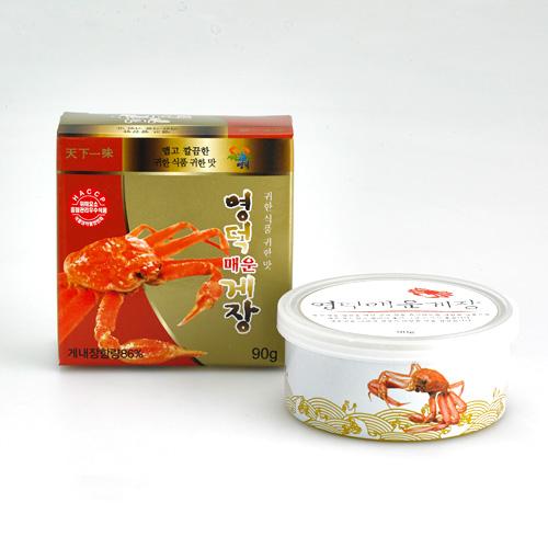 [SEAFOOD] 바다가득 영덕 매운게장 90g*7캔이식사