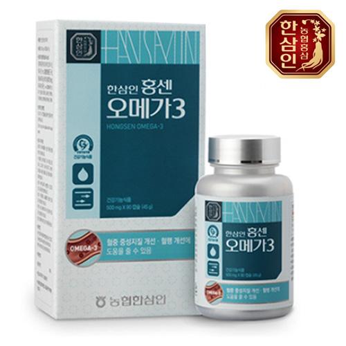 [농협홍삼] 한삼인 홍센오메가3 500mg*90캡슐이식사