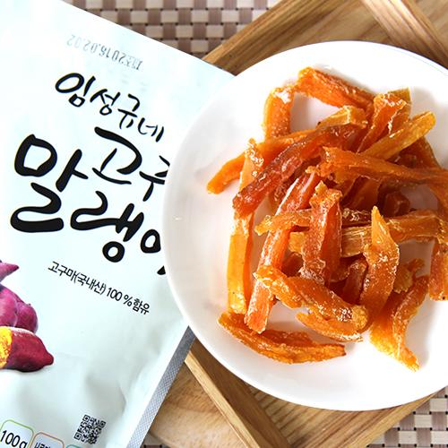[존뜩하고 달콤한] 100% 순수 무첨가물 고구마 말랭이 100g*15봉이식사