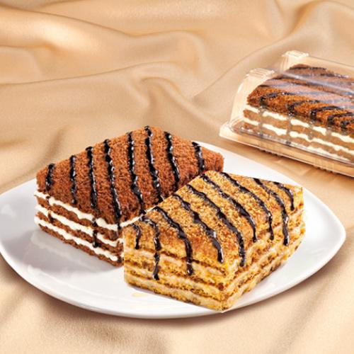 [유럽왕실에서 즐겨먹던] 말렌카 허니 케이크 100g*2박스+코코아맛 허니 케이크 100g*2박스이식사