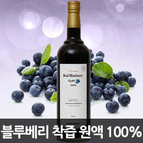 [자연그대로갈아만든] 트루 블루베리 100% 원액 750ml(유리병)이식사