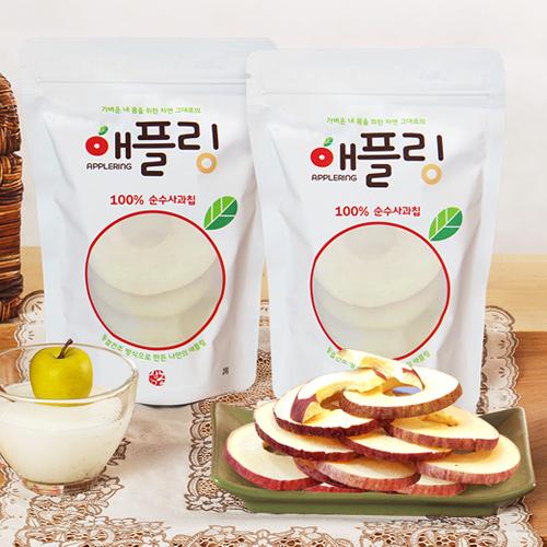 [신기농원] 자연 그대로의 순수사과칩 애플링 20g*20봉이식사