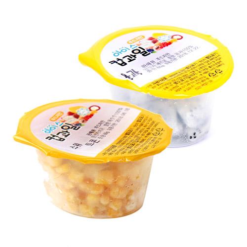 [Cup&Ice] 365일 신선한 과일을! 아이스 컵과일 옥수수콘 60g*10개+용과 60g*10개이식사