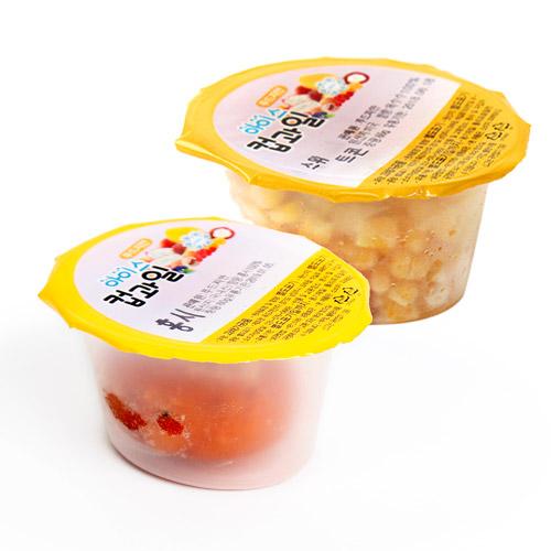 [Cup&Ice] 365일 신선한 과일을! 아이스 컵과일 홍시 60g*10개+옥수수콘 60g*10개이식사