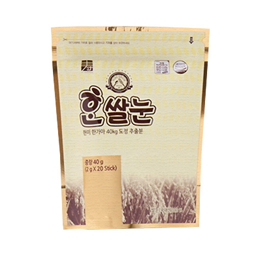 [PURE GRAIN] 현미 한가마40kg 도정추출분 한쌀눈 40g(2g*20포)이식사