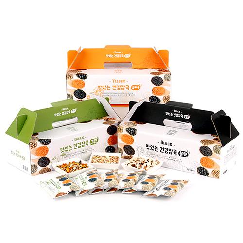 [하루잡곡] 밥할때 한봉씩! 씻어나온 맛있는 건강잡곡(블랙+그린+옐로우) 3box(30g*60봉)이식사
