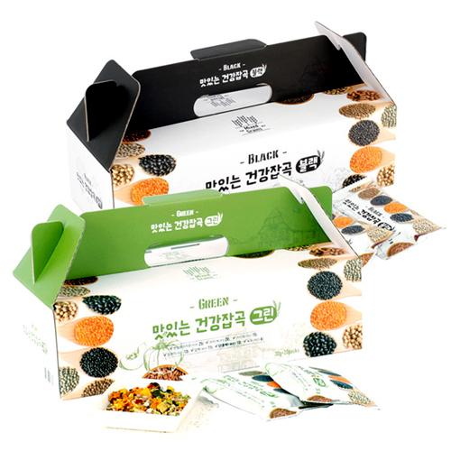 [하루잡곡] 밥할때 한봉씩! 씻어나온 맛있는 건강잡곡(블랙+그린) 4box(30g*80봉)이식사