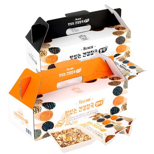 [하루잡곡] 밥할때 한봉씩! 씻어나온 맛있는 건강잡곡(블랙+옐로우) 4box(30g*80봉)이식사