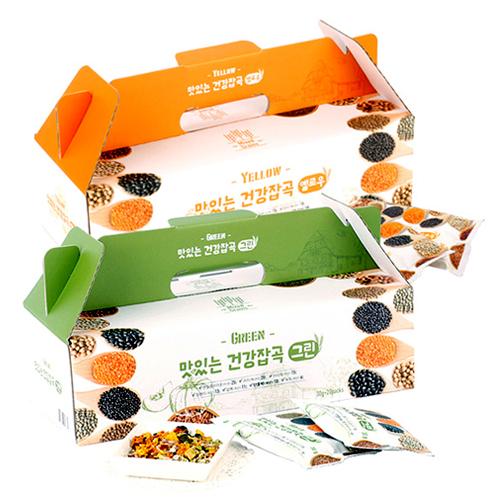 [하루잡곡] 밥할때 한봉씩! 씻어나온 맛있는 건강잡곡(그린+옐로우) 4box(30g*80봉)이식사