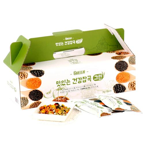 [하루잡곡] 밥할때 한봉씩! 씻어나온 맛있는 건강잡곡(그린) 3box(30g*60봉)이식사