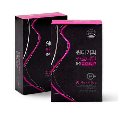 [WONDER COFFEE] 카르니틴 블랙 아메리카노 20g(2g*10봉)*3박스이식사