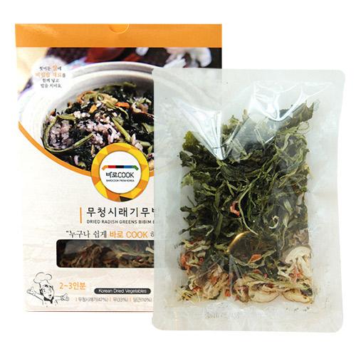 [바로COOK] 누구나 쉽게 만들어먹는 건나물밥(무청시래기무밥) 30g*10팩이식사