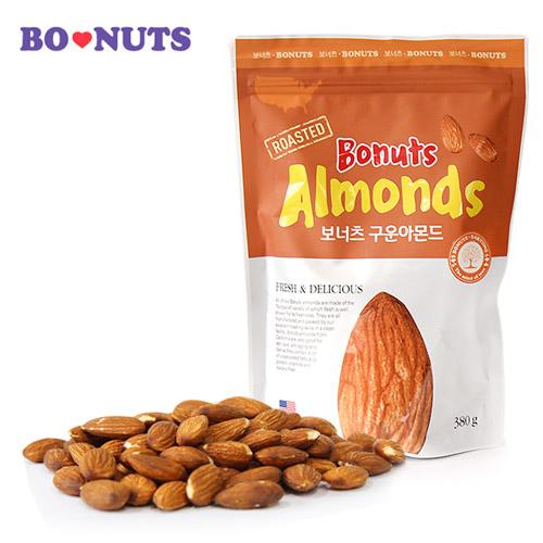 [THE BONUTS] 보너츠 구운아몬드 380g(지퍼백)*2팩이식사