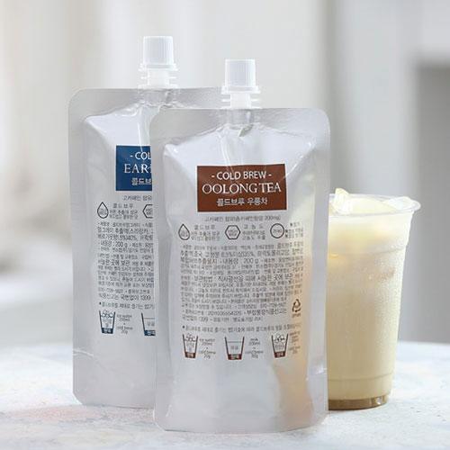 [COLD BREW] 콜드브루 고농축 원액(파우치) 2종세트 3호(얼그레이+우롱차) / 200g(파우치)*2팩이식사