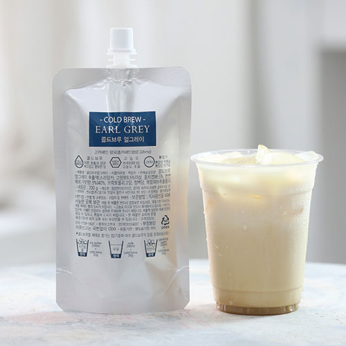 [COLD BREW] 콜드브루 얼그레이 고농축 원액(파우치) 200g*2팩이식사