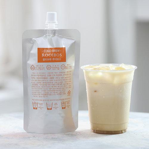 [COLD BREW] 콜드브루 루이보스 고농축 원액(파우치) 200g*2팩이식사