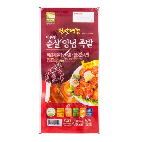[청산별돈] 30년 전통 매콤한 순살 양념족발 450g*3팩이식사