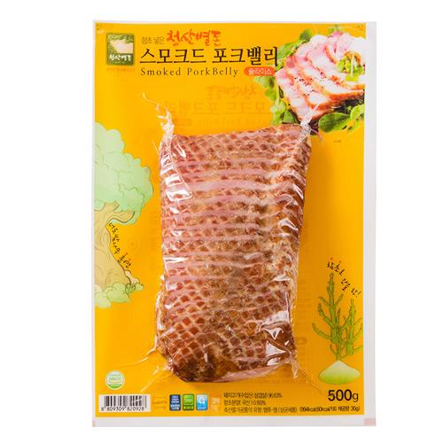 [청산별돈] 30년 전통 함초넣은 스모크드 포크밸리 500g*2팩이식사