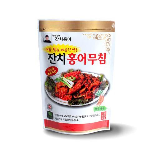 [홍어고을] 한석길 달인이 만든 잔치홍어 무침 1.6kg(400g*4팩)이식사