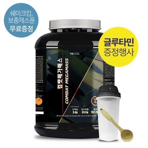 [말근육] 체중증가! NO SUGAR! 단백질보충제(WPH/WPC) 컴뱃 메가매스 4kg(코코아맛) / 80회분(1회50g)이식사