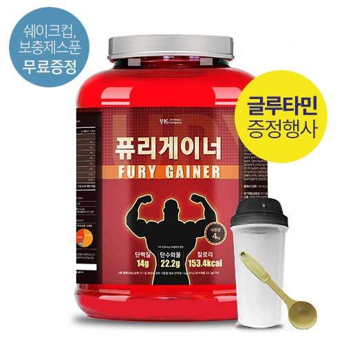 [말근육] 벌크업! NO SUGAR! 단백질보충제(WPI/WPC) 퓨리 게이너 4kg(코코아맛) / 80회분(1회50g)이식사