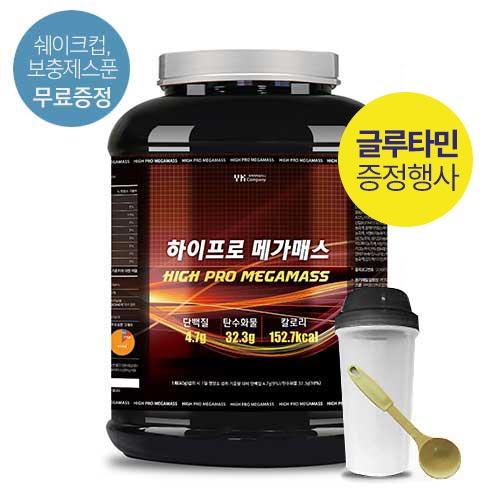 [말근육] 체중증가! NO SUGAR! 단백질보충제(WPH/WPC) 하이 프로 메가매스 4kg(코코아맛) / 80회분(1회50g)이식사
