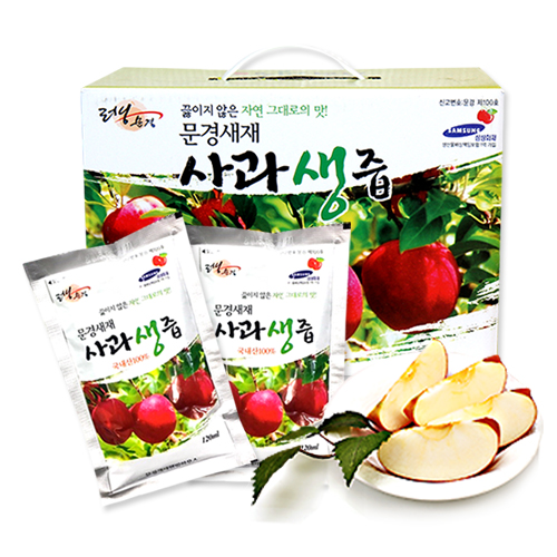 [문경새재] 사과를 그대로 갈아만든 사과생즙 120ml*50포이식사