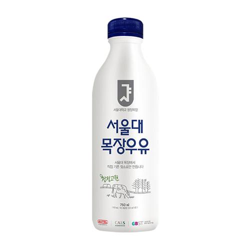 [서울대목장우유] 엄마의 사랑만큼 건강한 서울대 목장우유 750ml*2병