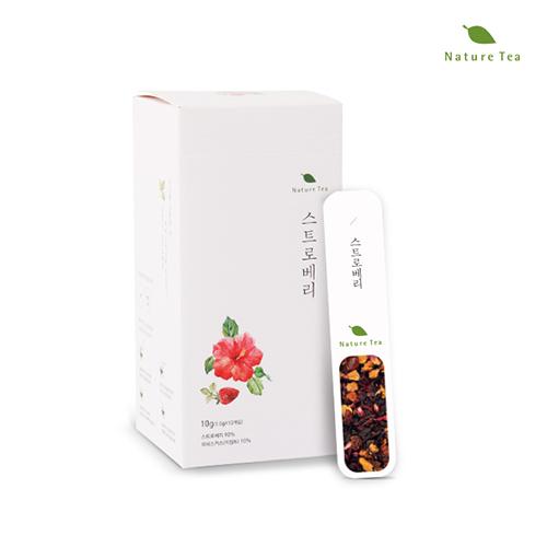 [Nature tea] 간편하게 품위있는 허브차! 스트로베리 차 10g(1g*10개입)이식사
