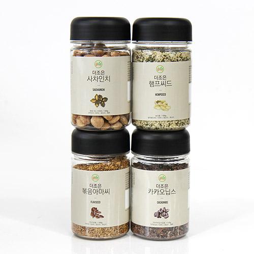 [the good Foods] 더조은 슈퍼푸드 4종 1호(카카오닙스,사차인치,햄프씨드,볶음아마씨) / 120g,140g,150g,160g이식사