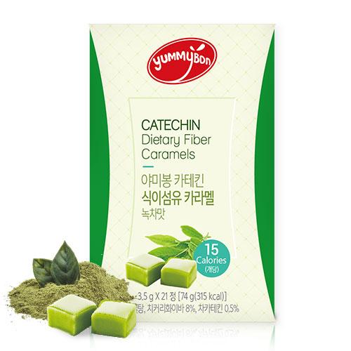 [야미봉] 배고플떄 하나씩! 카테킨 식이섬유 카라멜(녹차맛) 3.5g*21정이식사